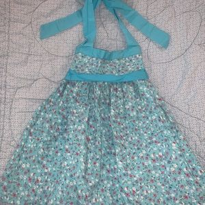 Buttons & Bubbles Sky Blue dress with Flowers
